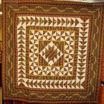 "Miniature Civil War Reproduction quilt ""Anvil"""