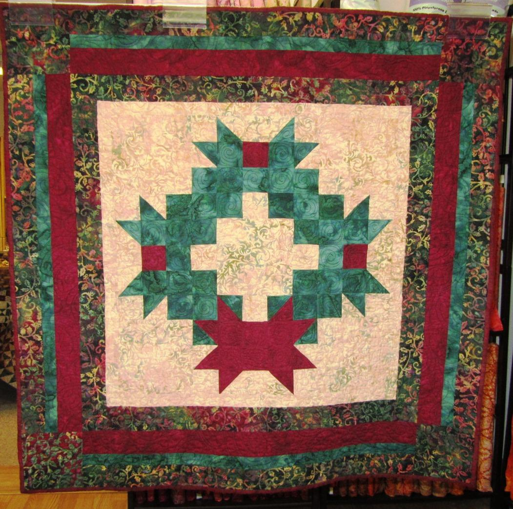Christmas wreath chestnut bay quilting