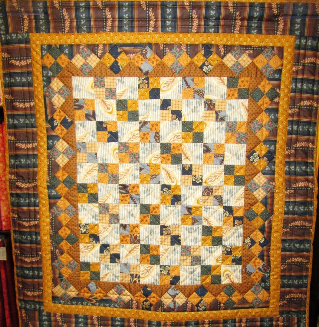 "Miniature Civil War Reproduction quilt ""Four Patch"""