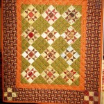 "Miniature Civil War Reproduction quilt ""Ohio Star"""