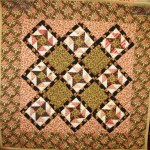 "Miniature Civil War Reproduction quilt ""Whirligig"""