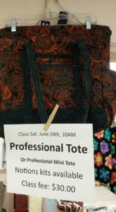 Professional Tote Bag (or Professional Tote Mini) - Part 1 of 2