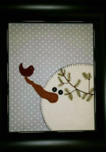 Frosty Friends wool applique class